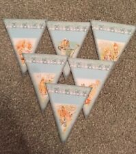 Baby Shower  Christening Peter Rabbit Bunting/banner decoration Blue/boy