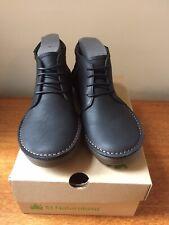 El Naturalista Rice Field Pleasant Black Lace Up Ankle Boots - size 5uk Eu 38