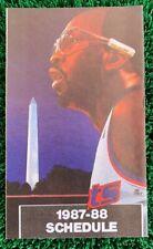 1987-88 Washington Bullets Pocket Schedule Capitals Moses Malone Jeff Malone Bol