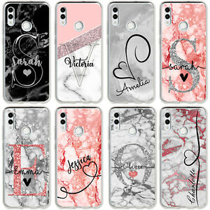 Personalised Initials/Name Marble Hard Phone Case For Samsung S7 S8 S9 S10 S10e