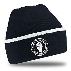 Navy Beanie Hat With Choice Of Logo.Ska.Northern Soul. Wigan Casino.Spirit Of 69