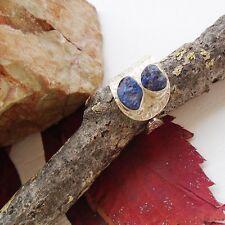 Tansanit Druse, blau, modern, Design, Ring, Ø 17,0 mm, 925 Sterling Silber neu