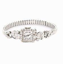 Vintage Hamilton 32-Diamond, & Platinum Women's Watch