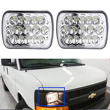 "Pair 7""X6'' LED Headlight Hi/Lo Beam for Chevy Express Cargo Van 1500 2500 3500"