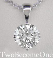 Not Enhanced Excellent SI1 Fine Diamond Necklaces & Pendants