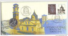 VATICAN CITY GIOVANNI PAOLO II° OSTENSIONE SACRA SINDONE FRANCOBUSTA 1998 500