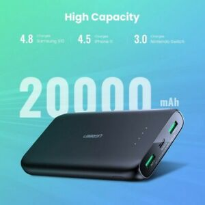 20000mAh Power Bank Portable Quick Charge USB C Samsung iPhone Nintendo switch