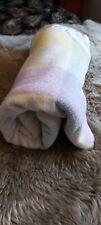 Swando Blanket Wool Large 200x220cm Pastel Vintage Satin Bound