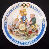 Orig.Porzellanteller  Olympische Spiele MÜNCHEN 1972 - Bayrische Disziplin A  !!