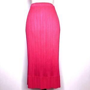 PLEATS PLEASE ISSEI MIYAKE Fuchsia Pink Impressive Design Skirt from Japan #694