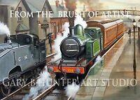 Great Northern Rly Drighlington & Adwalton Station, Ltd Signed Print on Canvas