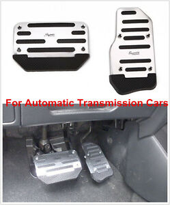 2 X Non Slip Metal Pedal Foot Treadle Cover For A/T Automatic Transmission Cars