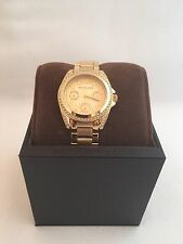 🎗NWT New Michael Kors Gold Tone Mini Blair Glitz Bracelet Watch MK5639 $275🎗