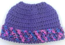 PONY TAIL ~MESSY BUN HAT  WOMEN'S BEANIE ~ HAND CROCHETED