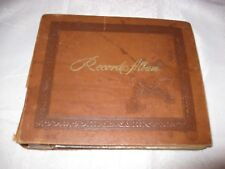 Vintage LP Record Album with collection of 13 (45 RPM) records