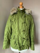 NEXT Short Green Parka Coat Jacket- Size 12 Petite