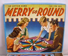 MERRY GO AROUND BOARD GAME 1935 BOXED COMPLETE WHITMAN