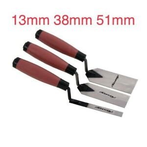 3 Piece Margin Trowel Set-Sizes 13mm 38mm 51mm Soft Grip Handle