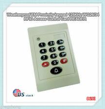 Weatherproof EM Proximity keypad 125KHz WG26/34 RFID Access Control Card READER