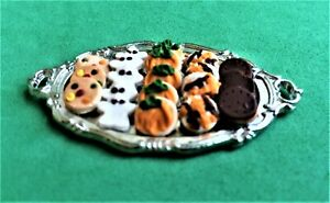 Dollhouse Miniature Tray of Halloween Cookies 1:12 Scale