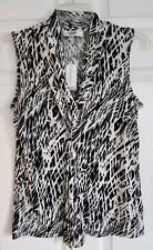 NWT Size S Jones Studio by Dressbarn Black & Ivory KnitTop MSRP $39 Machine Wash