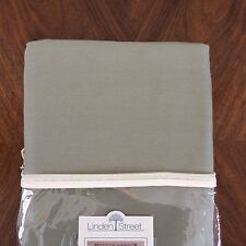 """Linden Street Green Clay 82""""x84"""" Solid Tab-Top Panel Pair Curtains 100% Cotton"""