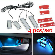 Car Interior Door Handle Light Atmosphere Ambient Lamps Ice Blue LED Decor Lamp
