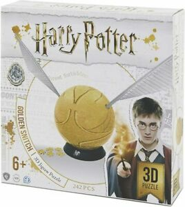 """Harry Potter 6"""" Golden Snitch 3D Puzzle by 4D Cityscapes (NEW Sealed)"""