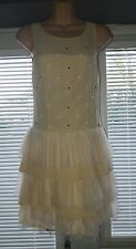 ladies pure silk warehouse embellished ballet dress size 10 RRP £80 (new)