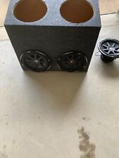 4 kicker cvx 12 inch subs. With sealed enclosure.