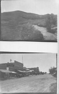 H56/ Bridgeport Nebraska RPPC Postcard c1910 2View Stores Main St