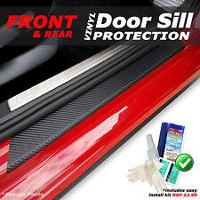 VW Passat B7 Saloon 2010 - 2015 4PC Black Carbon Vinyl Door Sill Protectors