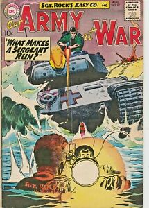 OUR ARMY AT WAR #97  SGT. ROCK & EASY CO.  JOE KUBERT  DC  SILVER-AGE 1960