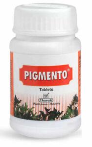 Charak Pigmento Tablets For Vitiligo Promotes Melanin 40 Tabs
