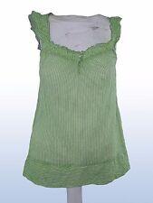 blusa donna verde righe TRF ZARA tg eur S SMALL cotone