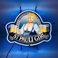 St Pauli Girl Import Beer Neon Light Sign Vintage Authentic Evertron Made in USA