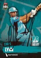 ✺Signed✺ 2015 2016 BRISBANE HEAT Cricket Card CHRIS LYNN Big Bash League