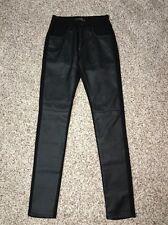 BDG Jeans Black Courtshop Pleather Front Size 27 X 30 Womens NWOT