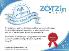 Gift Card for 1 In person or webcam Guitar lesson with L.A.'s Top Guitar Teacher