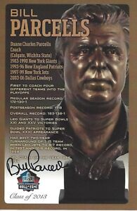 Bill Parcells New York Giants  Football Hall Of Fame Autographed Bust Card