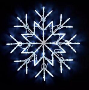 New Cool White Christmas Snowflake Light Window 50 LED Lights Static/Flash Cool