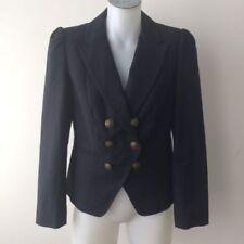 Cotton Blend V-Neckline Solid Coats & Jackets for Women