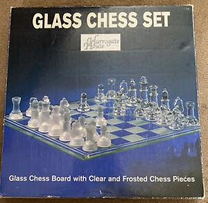 Harrogate House Glass Chess Set Never Used