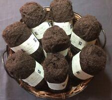 ROWAN British Sheep Breeds Boucle Knitting Crochet Yarn 223 Brown Pack 8 Balls