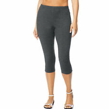 Just My Size Stretch Cotton Jersey Women's Capri Leggings 2x