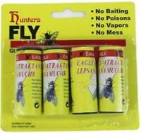 Fly Catcher Tape Glue Sticky Paper Strip 4 Rolls Insect Bug Trap Inside Outside