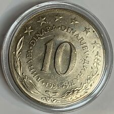 YUGOSLAVIA SFR JUGOSLAVIJA 10 DINARA 1981 CIRCULATED COIN