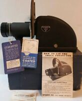 "Vintage (late 1940s) Argus Slide  Projector 4"" Anastigmat, 3.5 lens manual box"