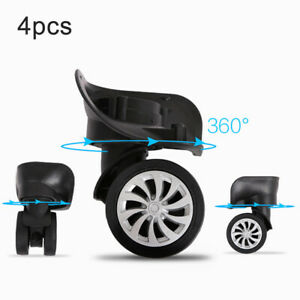 4pcs/set Luggage Suitcase Replacement Wheels Swivel Casters Universal Wheel