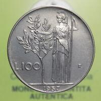 """NF* Repubblica Italiana - 100 Lire """"Minerva"""" 1957 FDC §526.9"""